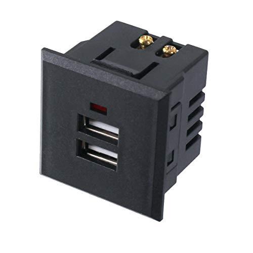 2x USB Einbausteckdose Board Steckdose Tischsteckdose 230V Ladegerät Einbau 220V