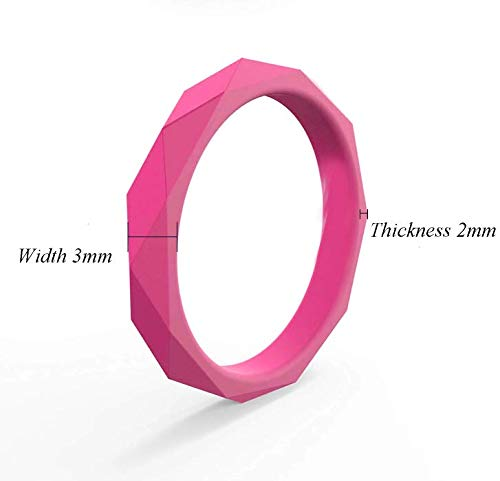 MIVA Silicone Wedding Ring for Women, Rubber Wedding Bands Sets for Her, Women's Active Lifestyle Fashion Rings Packs, Safe Material and High Durability