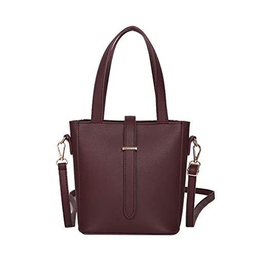 Lazzboy Handtasche Bag Frauen Einfache Wilde Retro Kleine Tasche Schulter Messenger (Kaffee)