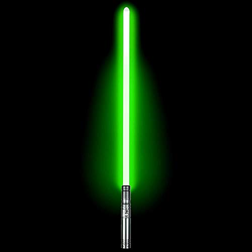 Duel Light Saber - RGB Multiple Colors Metal Hilt Force FX Lightsaber with 6 Sound Fonts, LED Rechargeable Light Sabers for Adults and Kids (Gun)