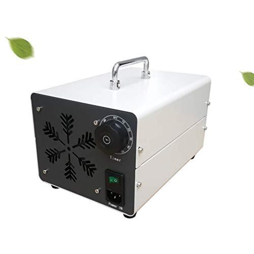 MGWA Purificador de Aire Ozono Generador Comercial, O3 Móvil Purificador De Aire Esterilizador con Temporizador Desinfección Máquina For El Hogar, Coches, Mascotas, Humo