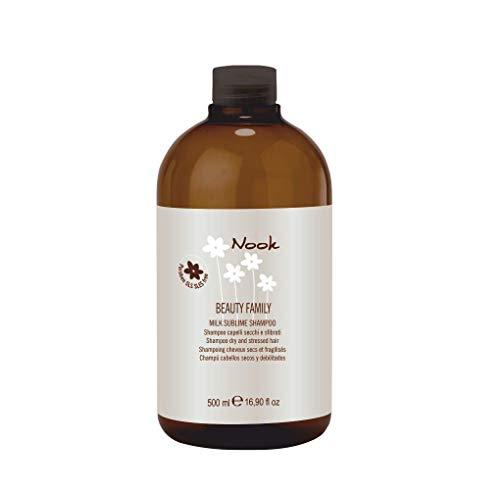 Nook Beauty Family Milk Sublime Shampoo 500 ml per asciutta e capelli geschädigtes - senza...