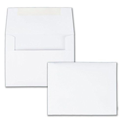 Quality Park Invitation Envelopes, #5.5, White, 4.375 x 5.75 inches,Box of 100 (36217)