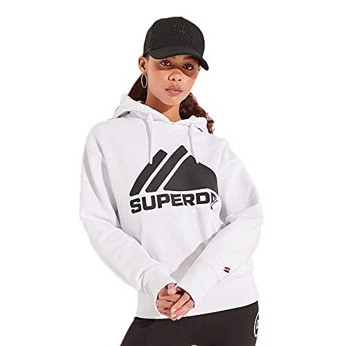 Superdry W2011059a Sudadera con Capucha, Óptica, X-Large para Mujer