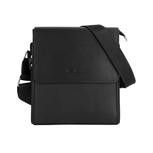 Leathario Men's Shoulder Bag Leather Crossbody Bag for Men Small Messenger Tablet iPad 11...