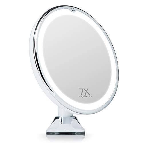 specchio trucco 7x Fancii Specchio Ingranditore Illuminato 7X per Trucco