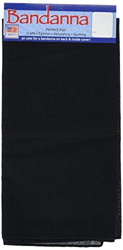 """100/% coton Bandana-Solide Noir 22/"""" X 22/"""""""