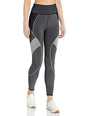 Betsey Johnson Women's Mapped Stripe Seamless 7/8 Legging, Black, S