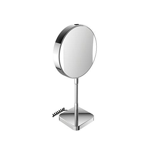 Emco LED R.- u. Kosmetikspiegel, Standmit Vergrößerung 3+7-Fach, Stecker, Chrom, Farbw.