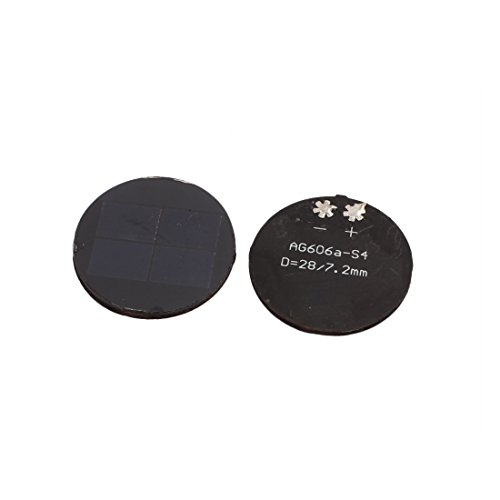Sourcingmap® 2 STK 28mm Dmr 2V 30mA Rund Monocrystalline Silikon N Typ Solar Paneel DE de