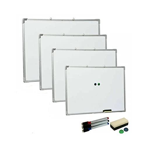 Planungstafeln Magnetisches Whiteboard Magnettafel, 90 cm x 60 cm, mit Stiftablage und Aluminiumleisten, Trocken Abwischbar, für Klassenzimmer/Büro/Meeting