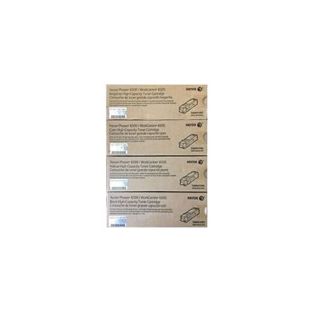 XEROX 6500/6505 High Yield Laser Toner Cartridge Set Black Cyan Yellow Magenta