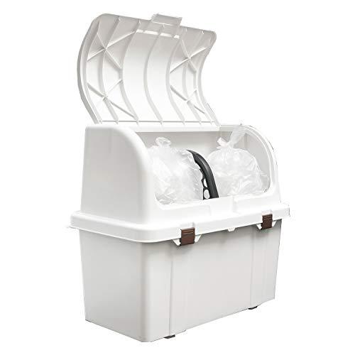 ゴミ箱 屋外 ベランダ 大容量 ゴミ袋45L3個入る おしゃれ ホワイト かわいい エクステリア 道具 ベランダ用ごみ箱 ストッカー