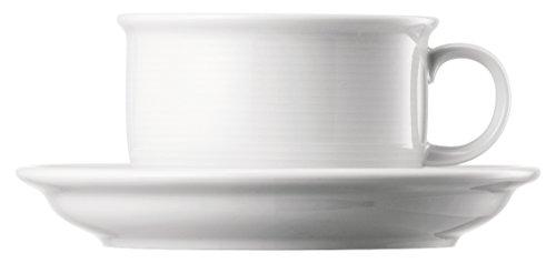 Thomas' Trend - 6 x Tasse Petit déjeuner et Soucoupe, 0,40 l, Blanc