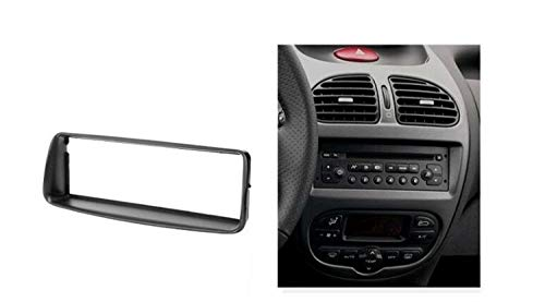 HIGHER MEN Car Accessories Parts DIN Sola Audio Fascia for Peugeot 206 Stereo Radio DVD GPS estéreo Panel de Soporte for Tablero de CD de instalación en Bastidor Kit de Acabado