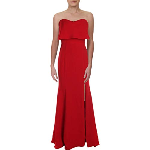 Xscape Womens Strapless A-Line Evening Dress Red 4