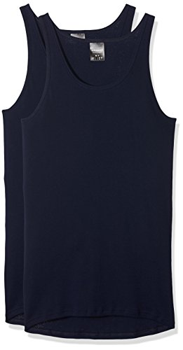 Schiesser Herren Feinripp 5121 Unterhemd 2er pack, Navyblau (815), X-Large