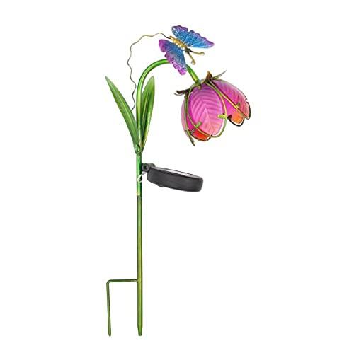 MCDSAJ Luces solares de jardín de 15.7 pulgadas, con decoración de mariposas, luces LED de jardín para jardín, patio, patio, camino, decoración