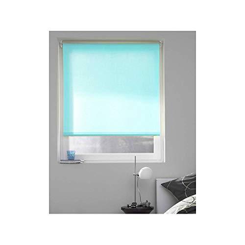 madecostore - Estor Enrollable, poliéster, Azul Turquesa, 64 x 190 cm (Tela L60 cm)