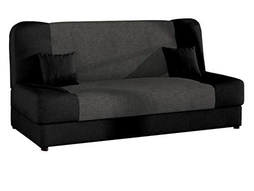 Schlafsofa Jonas Style, Sofa mit Bettkasten und Schlaffunktion, Bettsofa, Schlafcouch, Microfaser, Couch vom Hersteller, Wohnlandschaft (Alova 04 + Alova 36)
