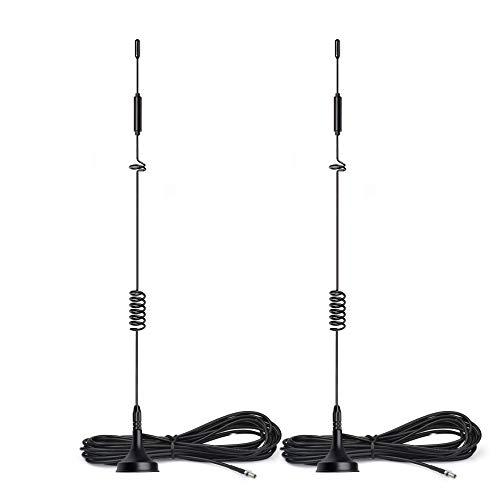 Bingfu 4G LTE TS9 Antenne 8dBi Magnetfuß MIMO Antenne 2 Stück Kompatibel mit 4G LTE MiFi Mobiler Hotspot-Router USB-Modem Dongle Stick Huawei Netgear Unite AirCard 770S AC797S AC815S AC779S 771S 781S