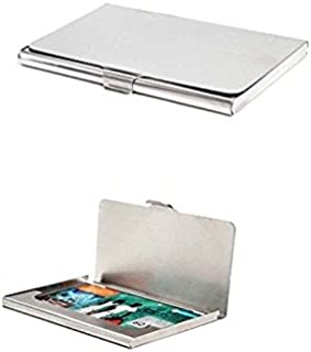 Michelangelo Silver Credit Card Case (Pack Of 2)