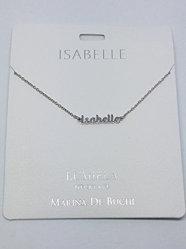 Isabelle Named Lumeila Necklace Marina De Buchi Silver Colour Presented by Sterling Effectz
