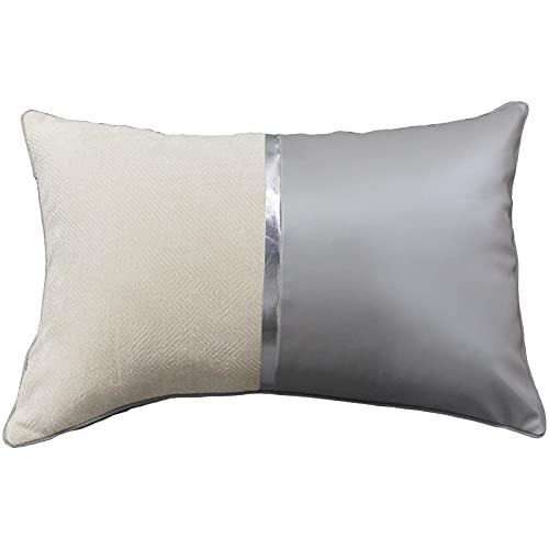 QMZ Fundas de Cojines Funda de Almohada con Costuras de Cuero (sin núcleo) decoración de sofá Funda de Almohada de Microfibra Cama Cintura Silla Respaldo60cm