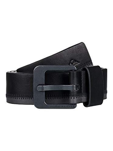 Quiksilver - Cinturón de cuero sintético - Hombre - XL-38 - Negro