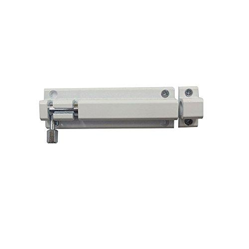 Bolzenriegel Riegel Türriegel Schubriegel Sicherheitsriegel mit befestigter Schlaufe (60 mm Weiss)