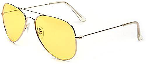 ALWAYSUV Nachtsicht Polarisierte Gelbe Vintage Stilvolle Sonnenbrille zum Fahren