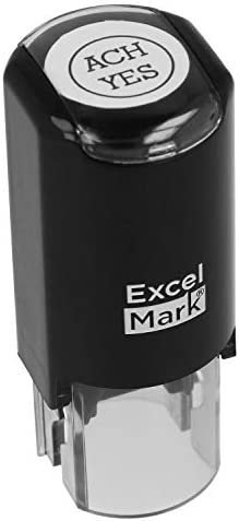 ExcelMark Custom Round Self Inking Inspection Stamp 5 8 Diameter 2 Lines product image