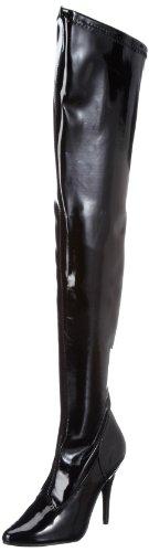 Pleaser Damen SEDUCE-3000 Klassische Stiefel, Schwarz (Blk STR pat), 41 EU