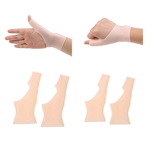 IPOTCH 2 Paar Daumenbandage Daumenorthese Daumenschiene Daumenschutz in Hautfarbe, Rechts und Links, Unterstützt Bei Sport Und Fitness
