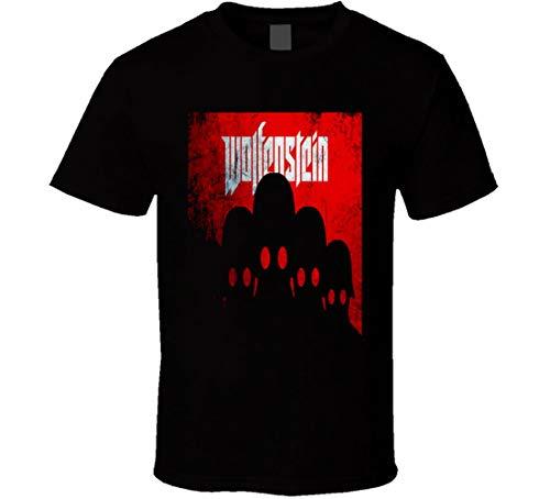 N/N Wolfenstein Playstation Gameboy Gamer - Camiseta para aficionados a videojuegos Negro Negro ( XL