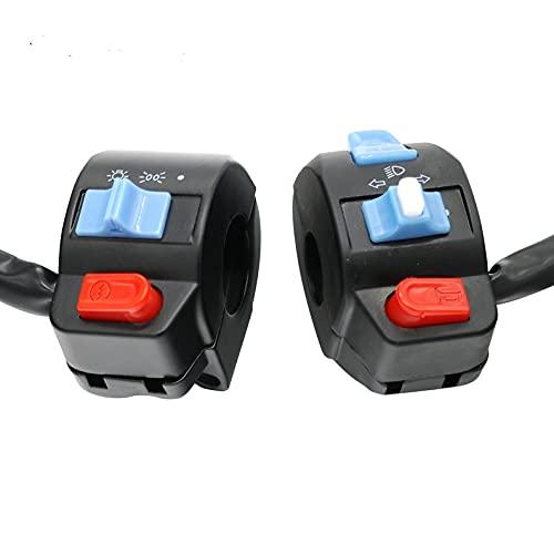PIAO piaopiao Interruptor del Controlador de la Manillar de la Motocicleta Universal Botón de la bocina del Interruptor de la señal de la señal del Manillar de la señal del Manillar Inicio