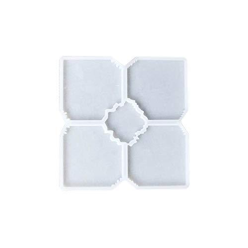 5 in 1 große Silikon-Untersetzer, Harz-Formen, Puzzle, unregelmäßige Form, Epoxidharz, Gießform für Geoden, Achat, Scheiben, Untersetzer, Tassen, Schüsselmatten, Schmuckhalter, Schale, Heimdekoration