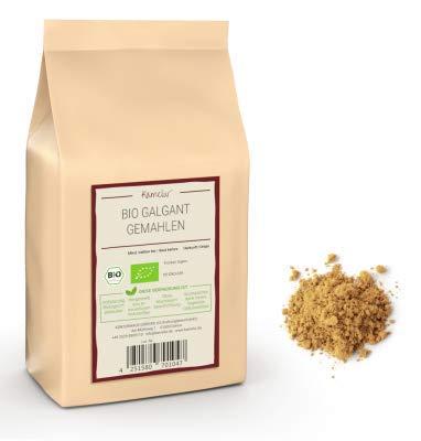 250g BIO Galgant Gewürz gemahlen - aromatisches BIO Galgant Pulver hergestellt aus der Galgantwurzel, ohne Zusätze - Galgantpulver in biologisch abbaubarer Verpackung