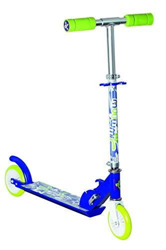 muuwmi Kinderscooter – Tretroller für Kinder, 120 mm, ABEC 5, höhenverstellbar, blau