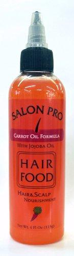 Salon Pro Hair Food Carrot Oil Formula With Jojoba Oil 4 oz
