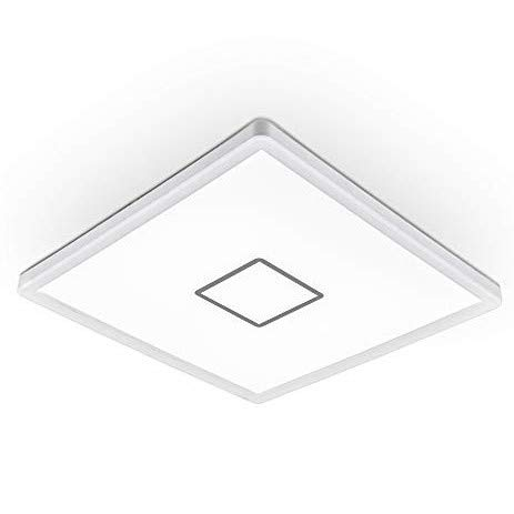 B.K.Licht I LED Deckenleuchte I Deckenlampe I Wandlampe I 18 Watt I 2.400 Lumen I Neutralweiß 4.000K I Weiß I Eckig 29x29cm I Ultraflach 2,8cm