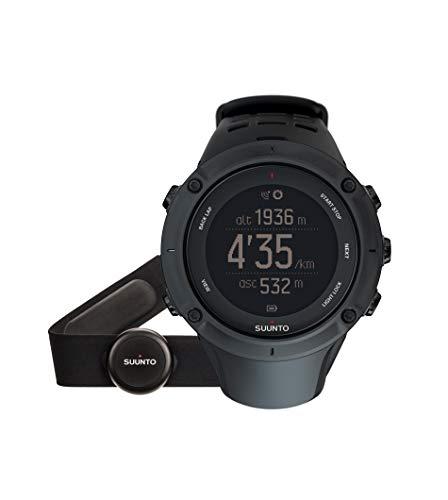 Suunto - Ambit3 Peak Black HR - SS020674000 - Reloj GPS Multideporte + Cinturón de frecuencia cardiaca (Talla M) - Sumergible 50 m - Negro