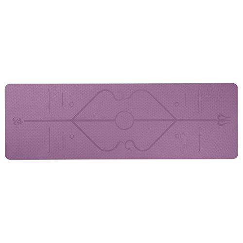Tappetino yoga Fitness yoga mat insapore antiscivolo linea di posizione palestra rilievi sport for i principianti del fitness ambientale ginnastica stuoie Tappetino per esercizi ( Color : Burgundy )