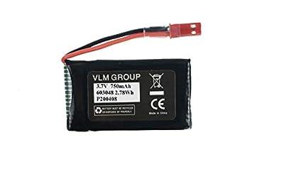 Sky Viper Drone S1700 S1750 V2400HD V2450FPV V2450GPS Scout Journey Drones Compatible Battery 3.7v 750mAh High Capasity
