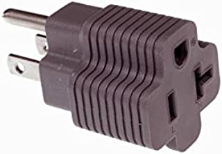 15 Amp Male to 20 Amp Female Plug Outlet 3 Prong Household T-Blade Adapter UL-Listed 120V