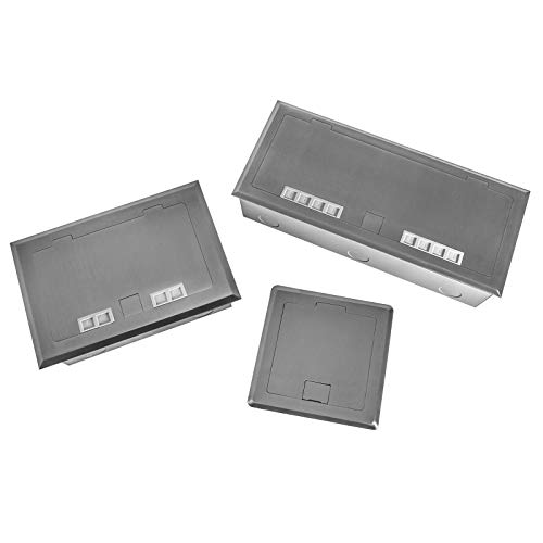 Einbausteckdosen Oberfläche Edelstahl V4A massiv in 3 Ausführungen 1-3 fach Ausführung auswählbar (2-Fach)