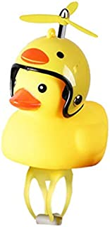 Kiminana Bicycle Light, Light Shining Little Yellow Duck Will Ring The Bicycle Children Cycling Light Rubber Duck Toys Bicycle Accessories Light + Helmet (H01, One Size)