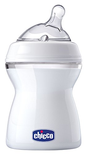 Chicco NaturalFit Baby Bottle Slow Flow with Bonus Straight Nipple, 0 Months+, 8 Ounce