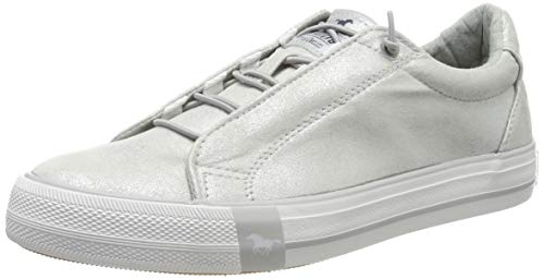 Mustang Damen 1313-304-21 Slip On Sneaker, Silber (Silber 21), 37 EU