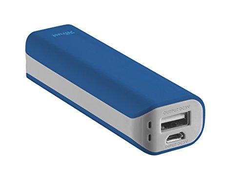 Trust Mobile Primo Powerbank, 2.200 mAh met 1 USB Poort, Blauw (voor Smartphone)